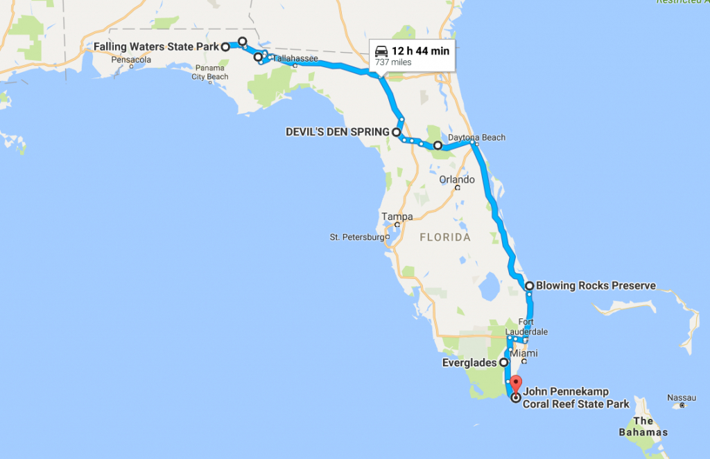 The Ultimate Florida Natural Wonders Road Trip - Devil's Den Florida Map