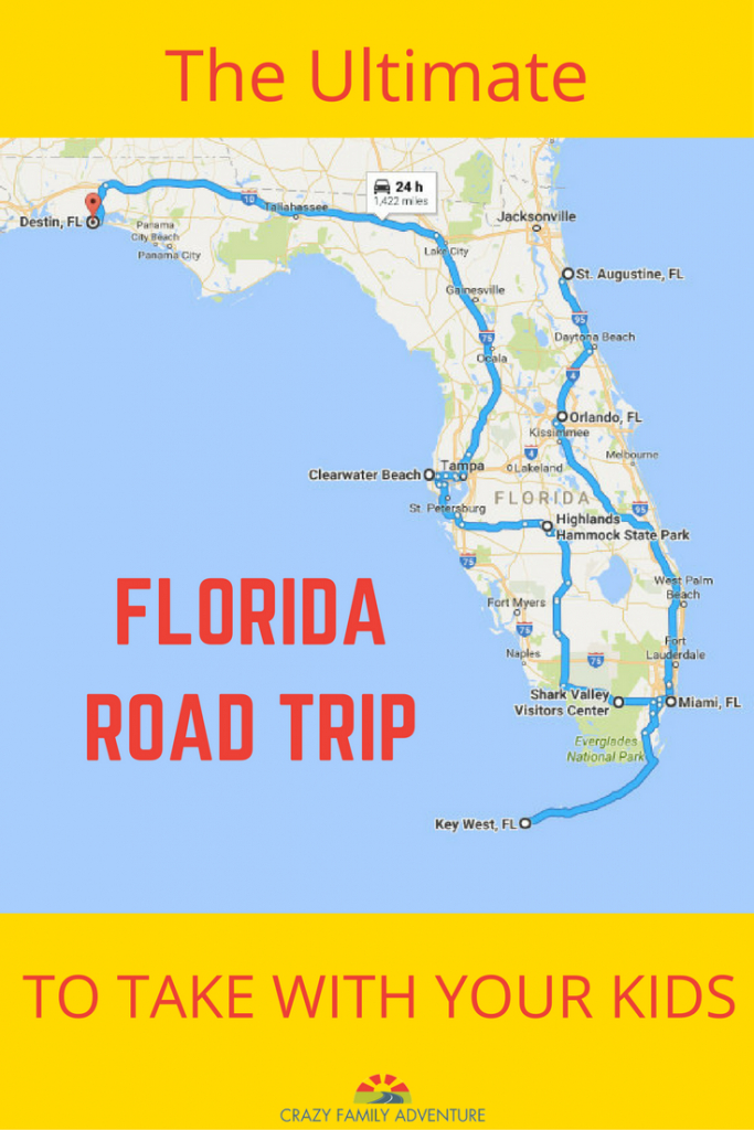 The Ultimate Florida Road Trip: 31 Places Not To Miss | Y Travel - Map Of Best Beaches In Florida