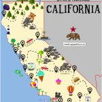 The Ultimate Road Trip Map Of Places To Visit In California   Hand   Best California Road Trip Map