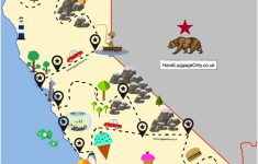 The Ultimate Road Trip Map Of Places To Visit In California – Hand – Where Is Monterey California On The Map