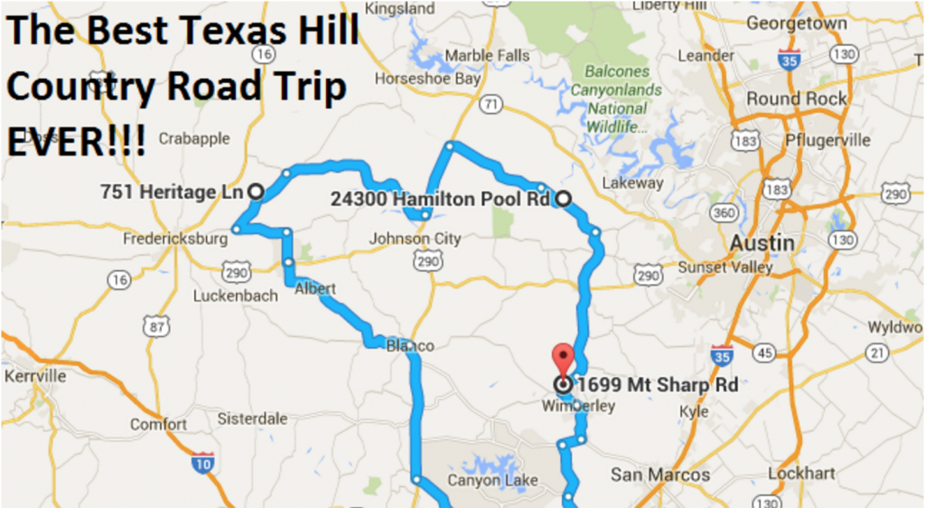 The Ultimate Texas Hill Country Road Trip - Driving Map Of Texas Hill Country