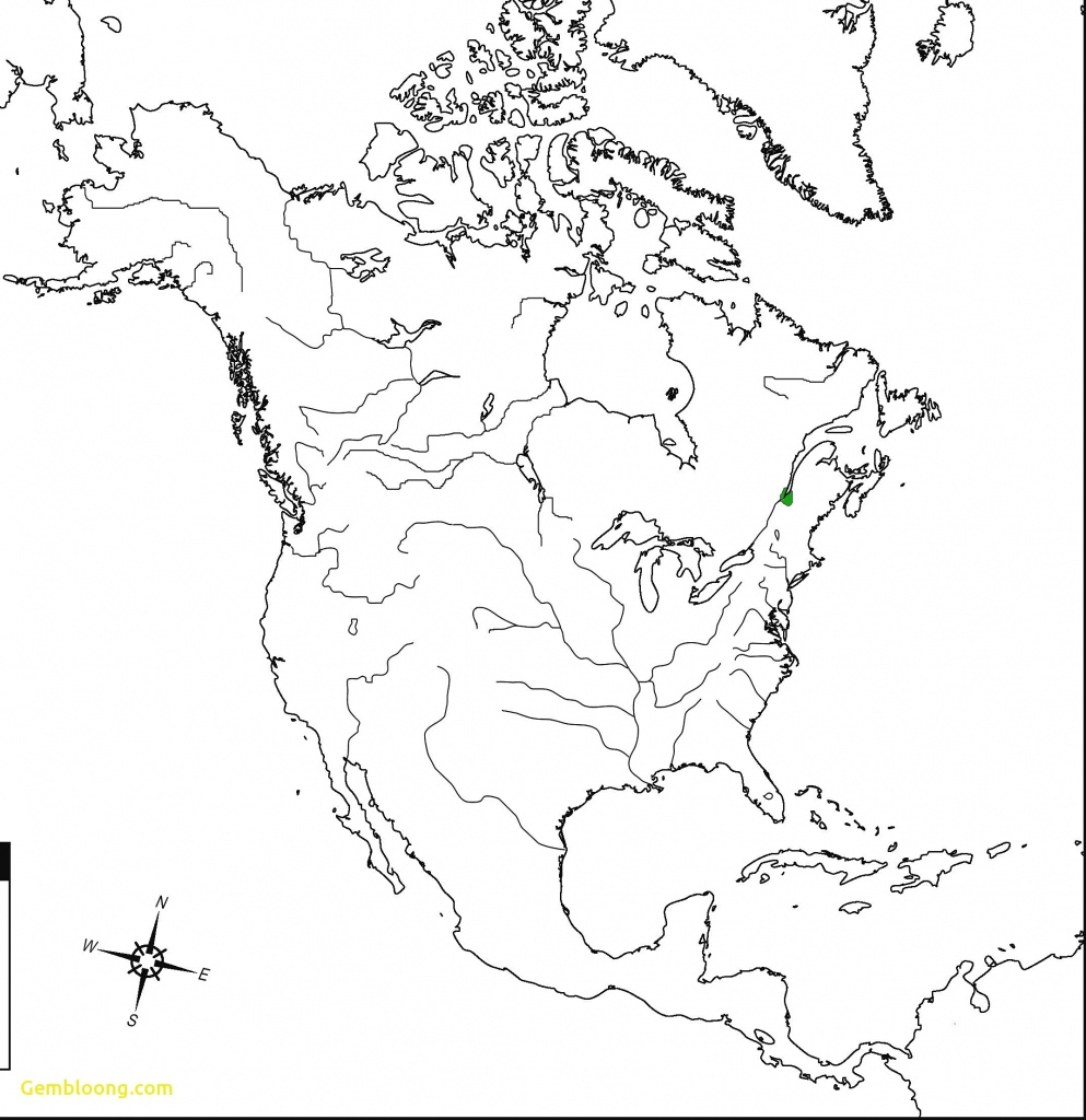 The United States And Canada Physical Map Worksheet Inspirationa - Blank Us And Canada Map Printable