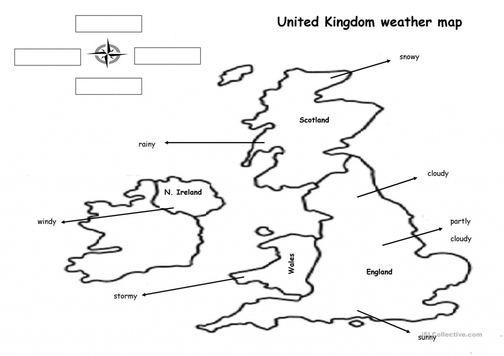 The Weather Map Worksheet - Free Esl Printable Worksheets Made - Free Printable Weather Map Worksheets