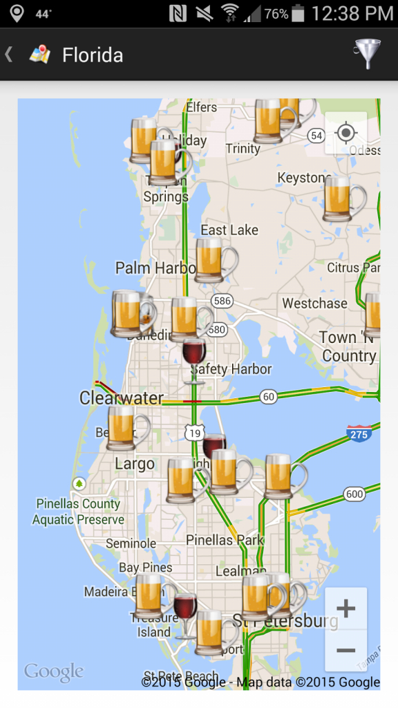 Thecompass Winery Brewery Distillery Locator App's View Of The Fred - Florida Winery Map
