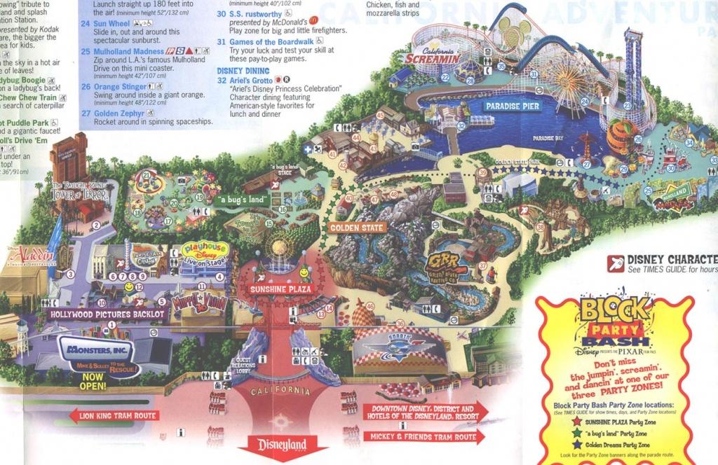 Theme Park Brochures Disney's California Adventure - Theme Park - Disney World California Map