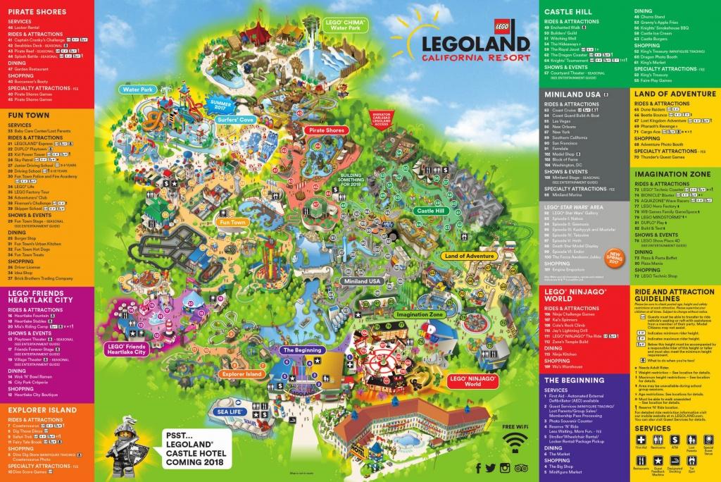 Theme Park Brochures Legoland California Resort - Theme Park Brochures - Amusement Parks California Map