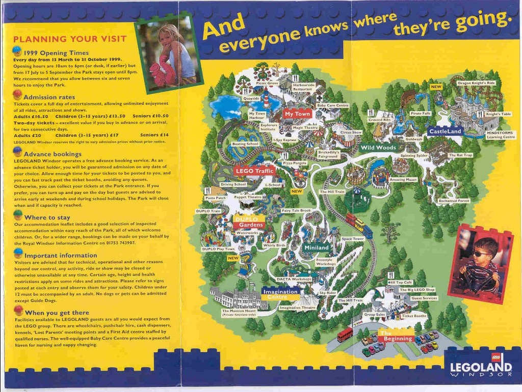 Theme Park Brochures Legoland Windsor - Theme Park Brochures - Legoland Printable Map