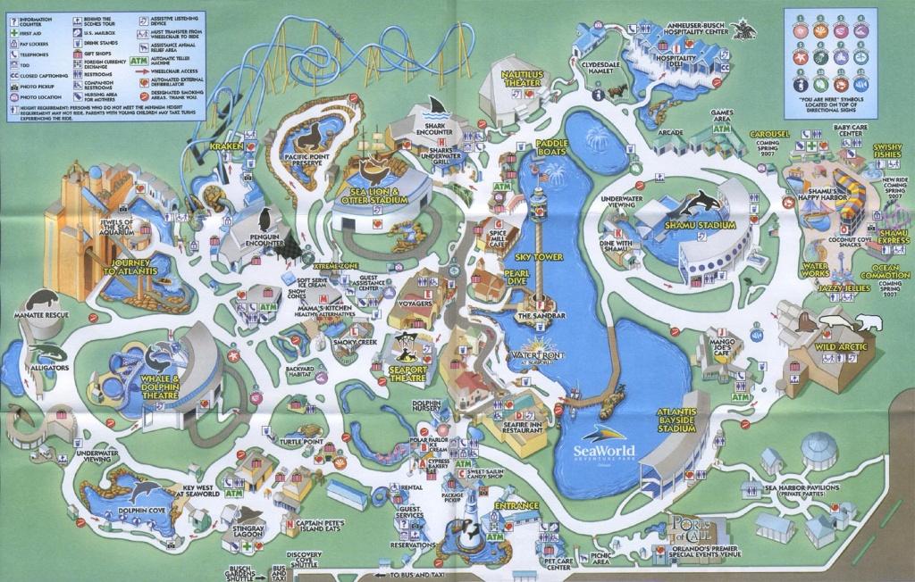 Theme Park Brochures Sea World Orlando - Theme Park Brochures - Seaworld Orlando Map 2017 Printable
