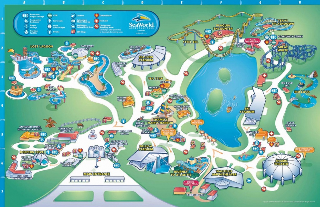 Theme Park Brochures Sea World San Antonio - Theme Park Brochures - Printable Map Of Seaworld San Antonio