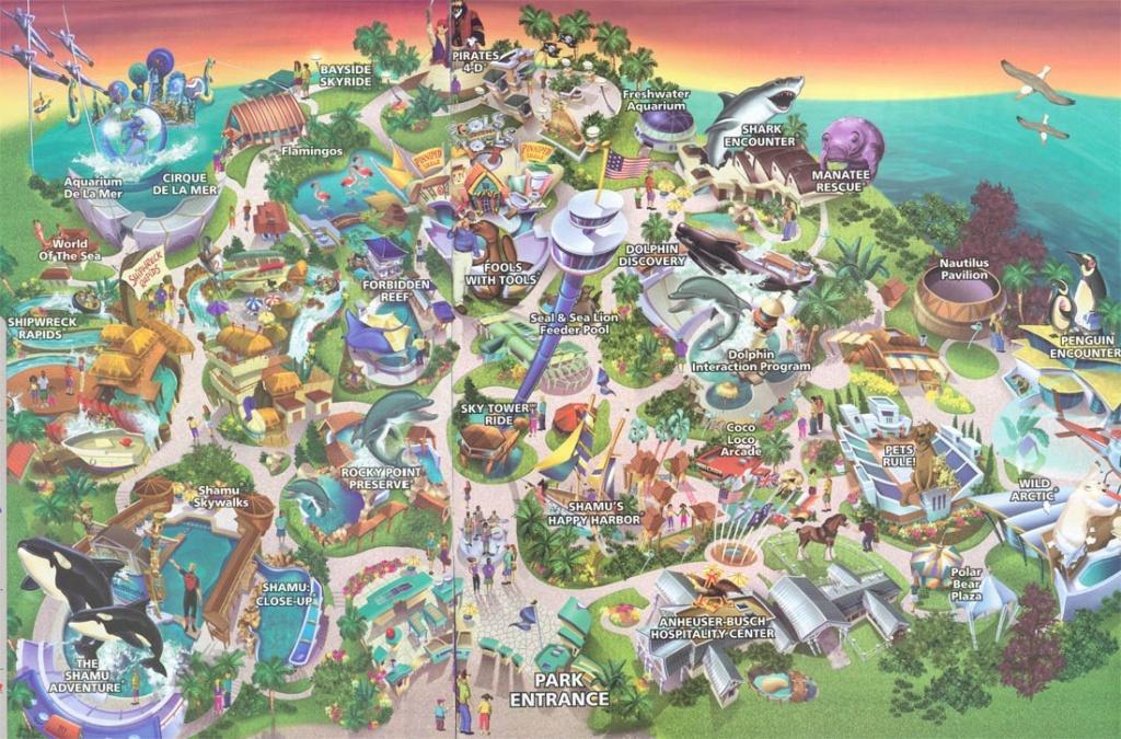 Theme Park Brochures Sea World San Diego - Theme Park Brochures - Printable Sea World Map