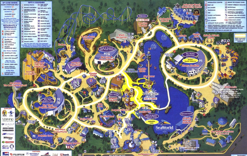 Theme Park Page - Park Map Archive - Orlando Florida Parks Map