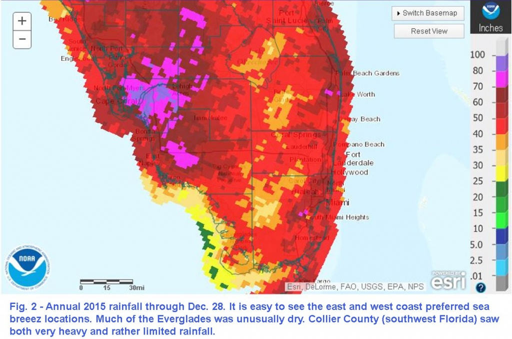 Theweathermogil:: South Florida 2015 Recap – Hot With Rainfall - Seabreeze Florida Map