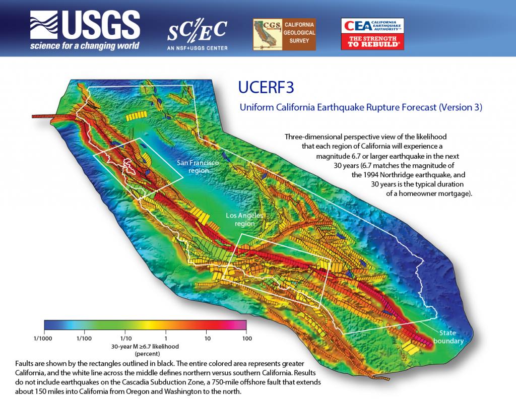 Third Uniform California Earthquake Rupture Forecast (Ucerf3 - California Geological Survey Maps
