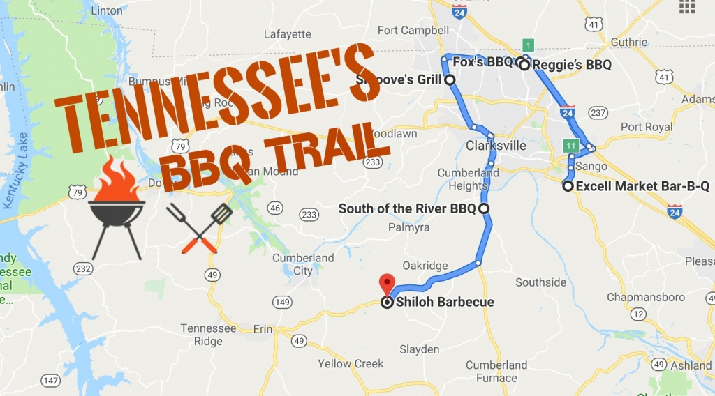 This Bbq Trail Through Tennssee Is Absolutely Amazing - Texas Bbq Trail Map