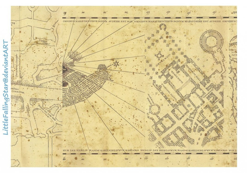 This Is A Copy Of The Marauders Map, 36 Scans Stitched Together In - Marauders Map Template Printable