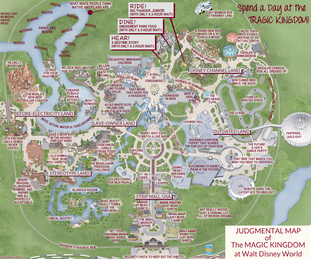 This 'judgmental Map' Of Magic Kingdom Is Pretty Accurate   Blogs - Disney Florida Maps 2018