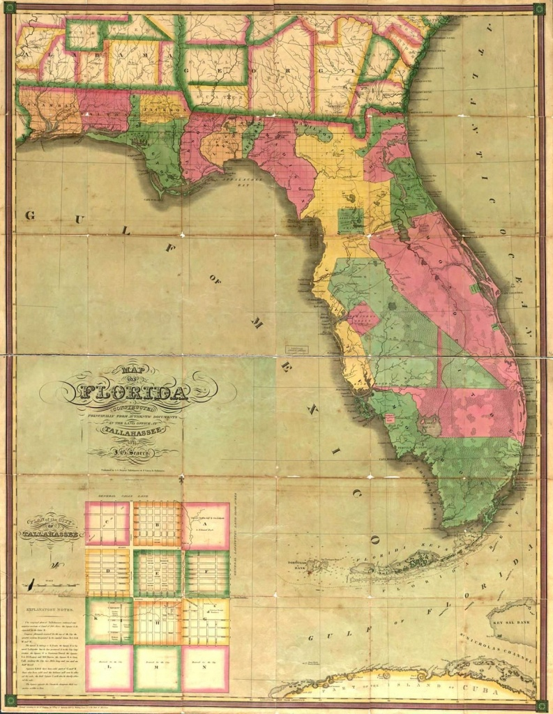 This Map Is Of Florida In The 1800's. | St. Augustine Primary Source - Map Of South Gulf Cove Florida