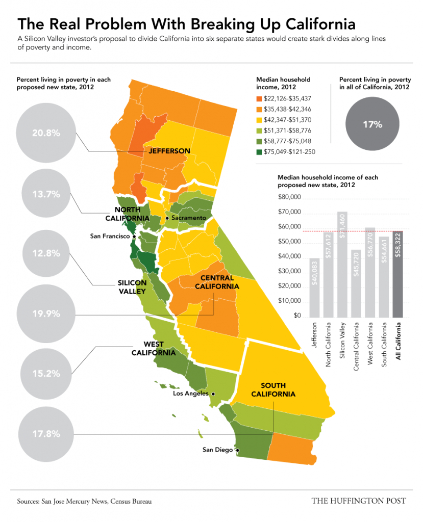 This Map Shows Why The Plan To Split Up California Would Be A - Divide California Map