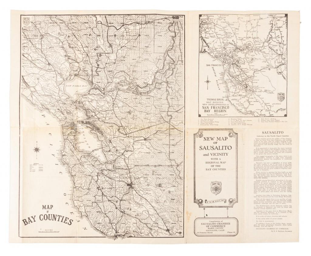 Thomas Bros. Map Of Sausalito, Marin County, Calif. - Price Estimate - Thomas Bros Maps California