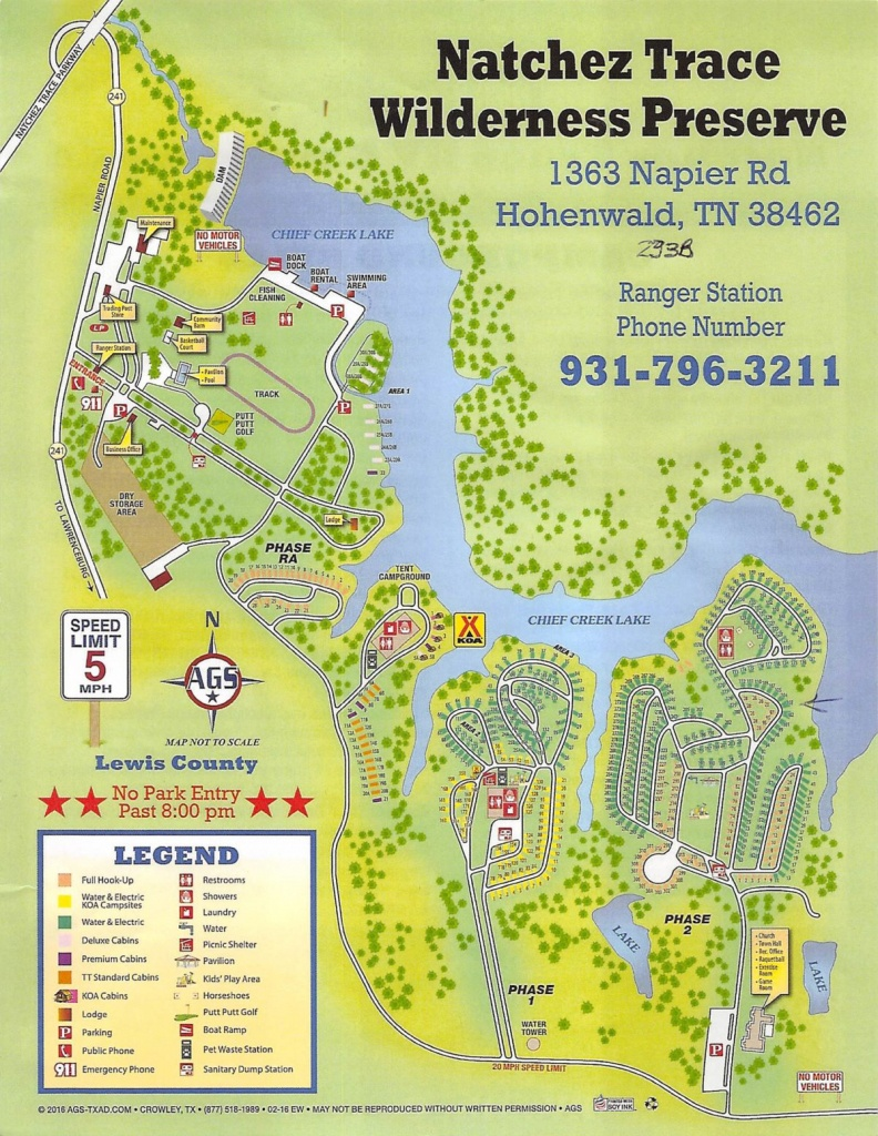 Thousand Trails Natchez Trace Preserve, Hohenwald, Tn   Traveling - Thousand Trails Florida Map