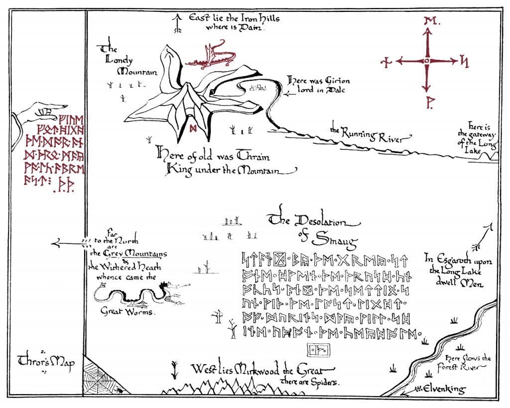 Thrors Map Printable   Homeschool Unit - Hobbit In 2019   Tolkien - Printable Hobbit Map