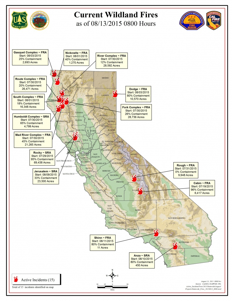 Thursday, August 13 Fire Map - Kibs/kbov Radio - Active Fire Map For California