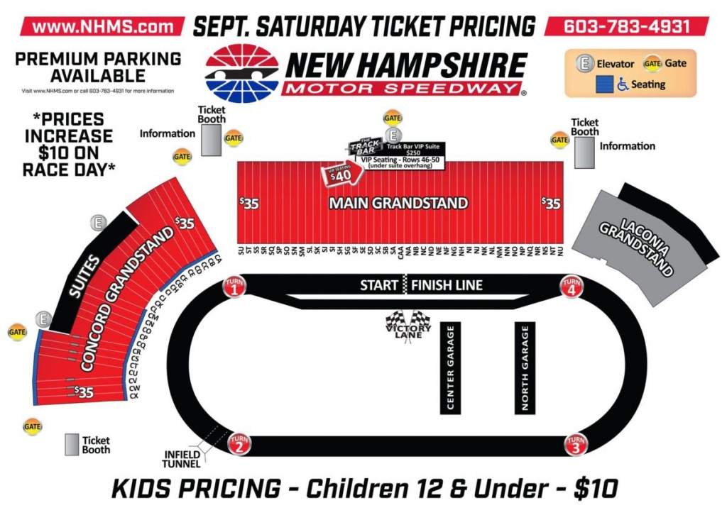 Tickets | Events | Nhms - Texas Motor Speedway Track Map