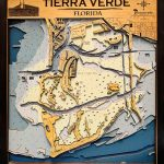 Tierra Verde – Large – 7 Layers – 25″ X 30″ | Island Laser Design   Terra Verde Florida Map
