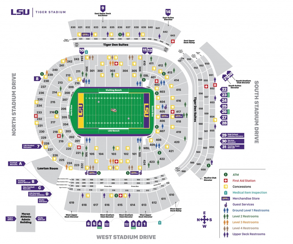 Tiger Stadium Seating Chart - Lsusports - The Official Web Site - University Of Florida Football Stadium Map