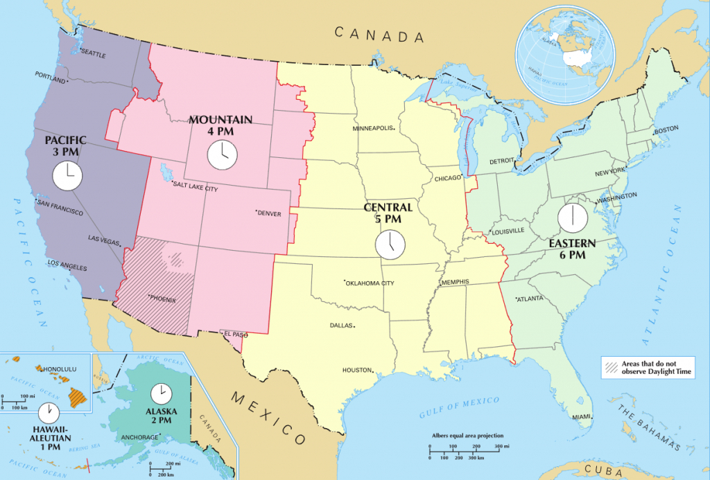 Time In The United States - Wikipedia - Printable Map Of Us Time Zones With State Names