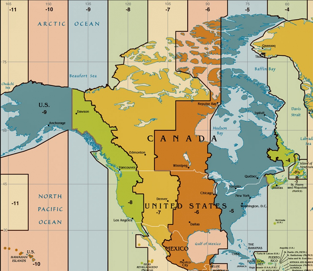 Time Zone Map Of The United States - Nations Online Project - Printable Time Zone Map With State Names