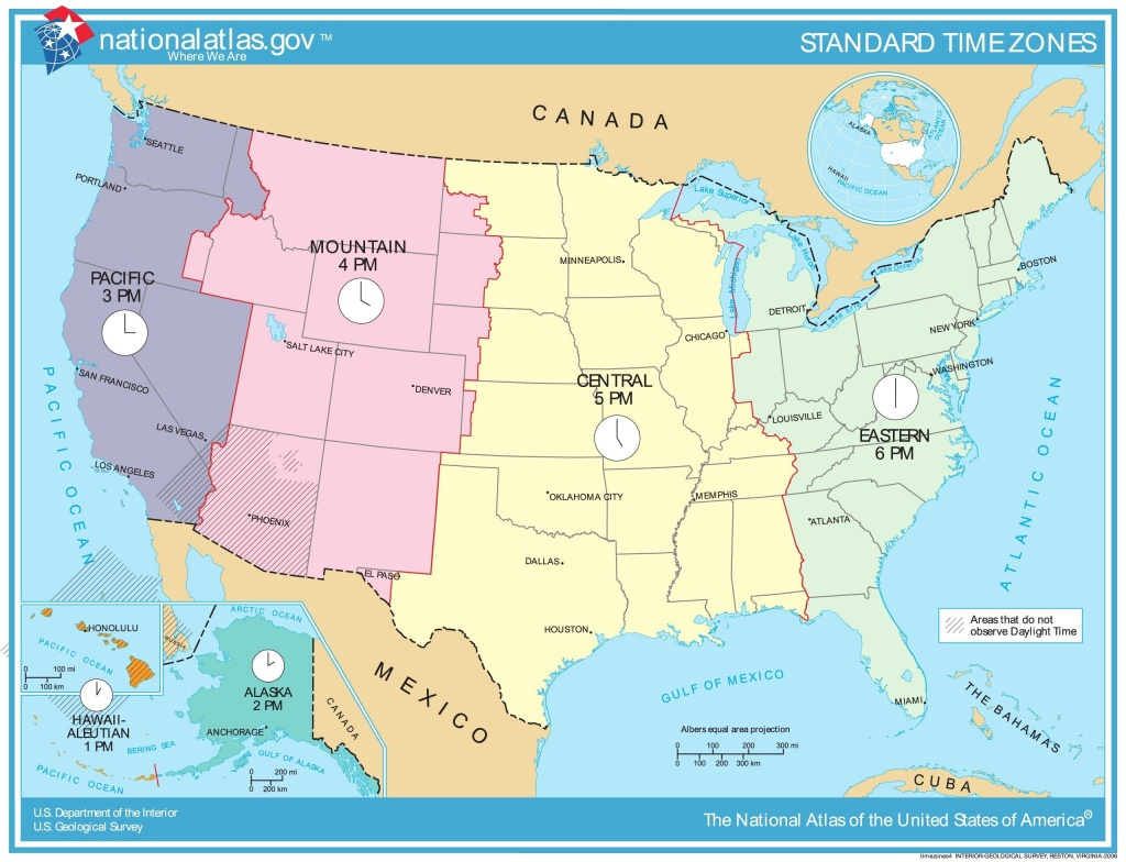 Time Zone Map Of Usa Awesome Printable Map United States Time Zones - Printable Usa Time Zone Map
