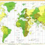 Time Zones Of The World Map (Large Version)   World Time Zone Map Printable Free