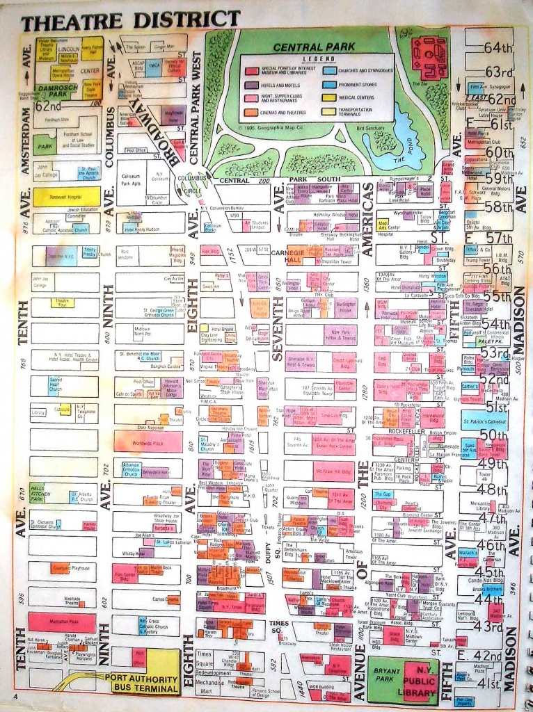 Times Square Map - New York Ny • Mappery - Printable Map Of Times Square