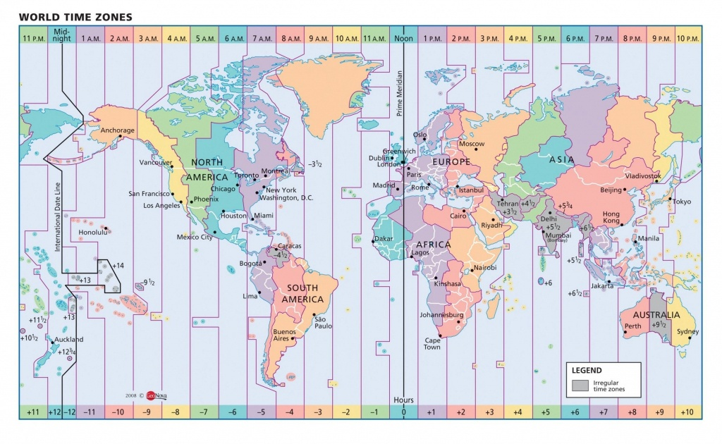 Timezone Map Of Us Color Map Of Us Time Zones Vector Map Usa State - Printable Map Of Us Time Zones With State Names