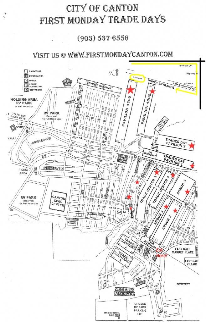 Tips When Visiting Canton First Monday Trade Days | Dallas Moms Blog - Canton Texas Map