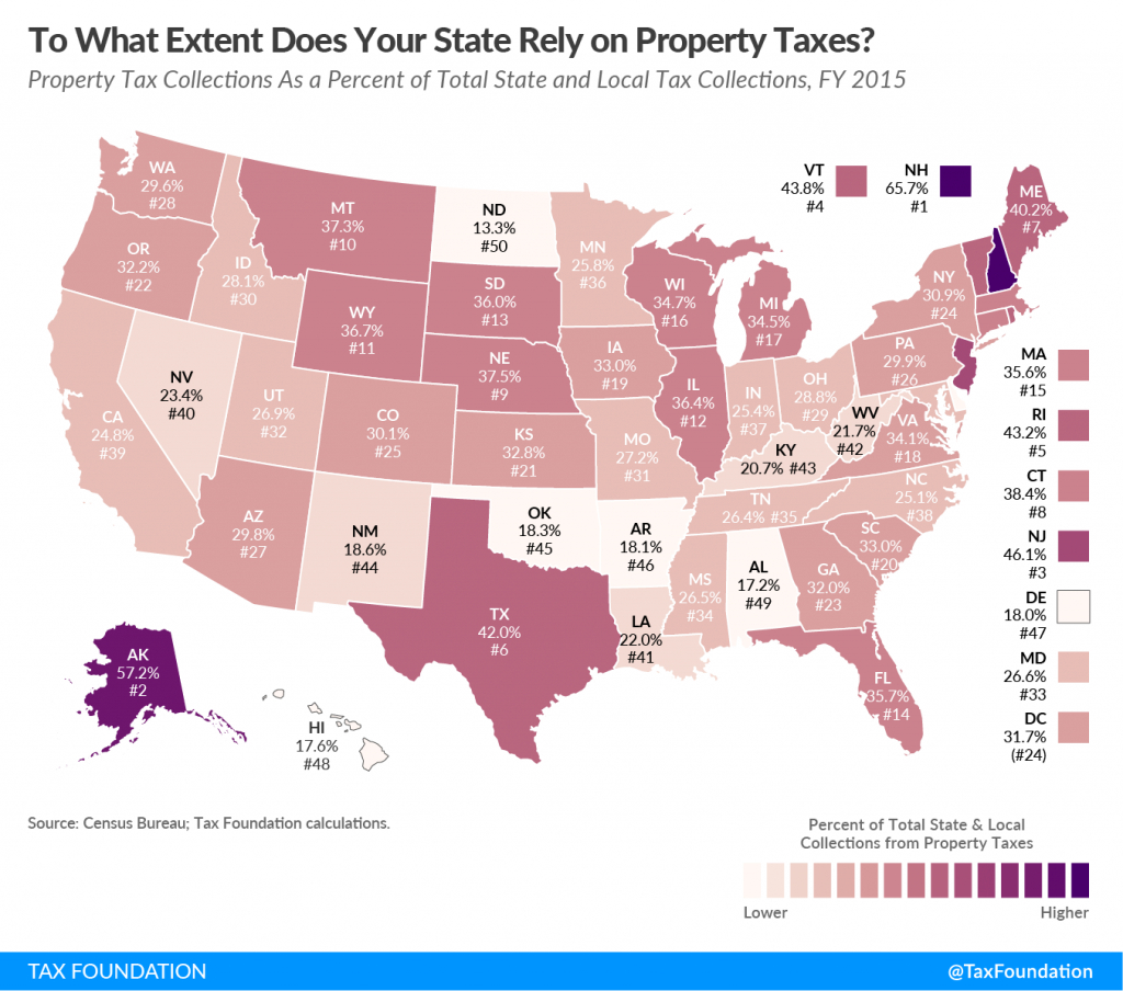 To What Extent Does Your State Rely On Property Taxes? | Tax Foundation - Florida Property Tax Map