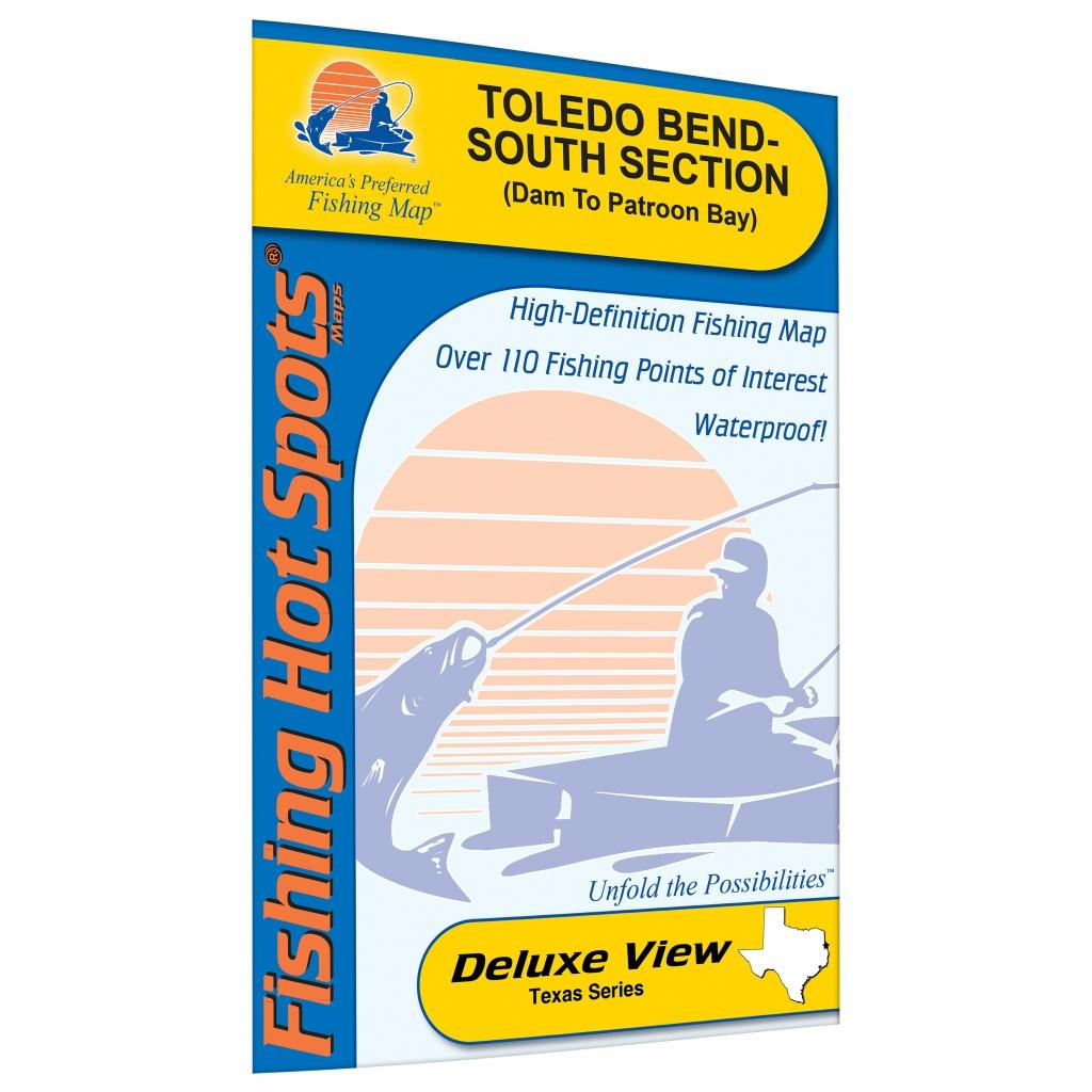 Toledo Bend-South Section (Dam To Patroon Bay - La/tx) Fishing Map - Texas Fishing Hot Spots Maps