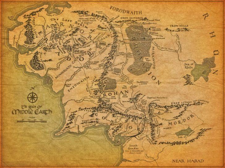 Printable Hobbit Map