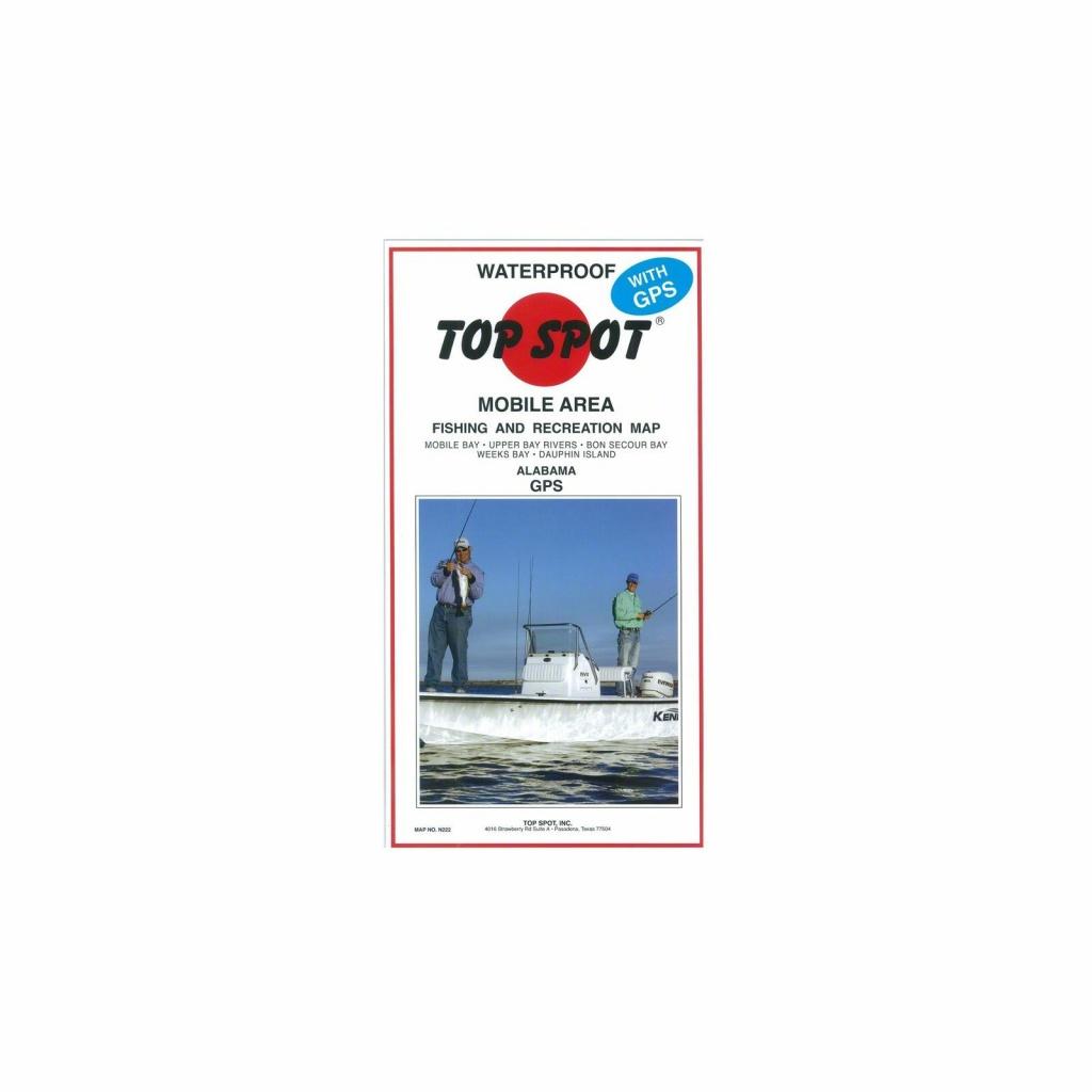 Top Spot Map- Mobile Alabama Mobile Bay To Dauphin Island Gps, N222 - Top Spot Maps Texas