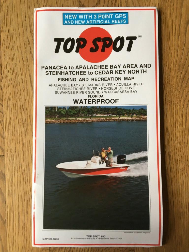 Top Spot Map N231 Panacea Apalachee Steinhatchee To Cedar Key North - Top Spot Maps Texas