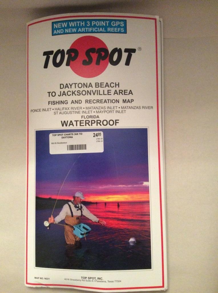 Top Spot N221 Map- Daytona Jacksonvil Ponce Inlet Mayport For Sale - Top Spot Maps Texas