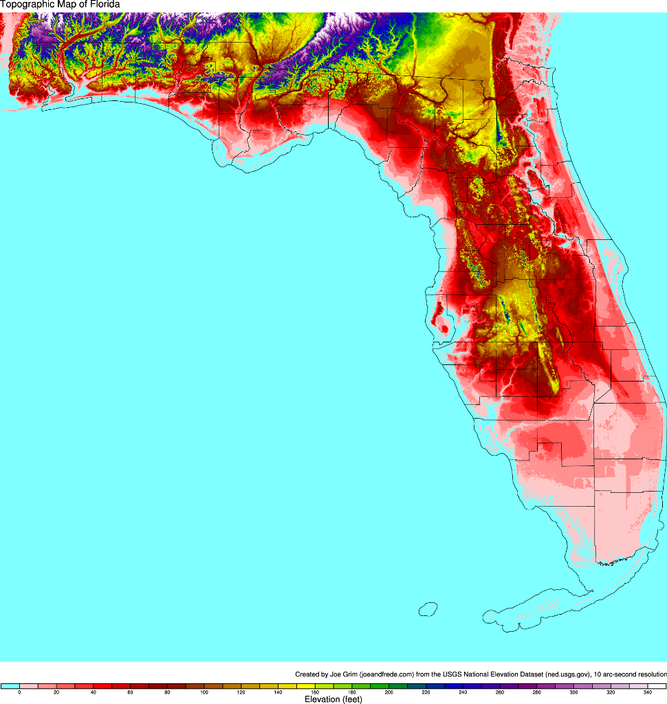 Topographic Maps Of The United States - Topographic Map Of South Florida