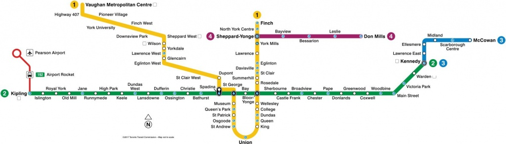 Toronto Subway Map 2019 | Toronto-Info - Toronto Subway Map Printable