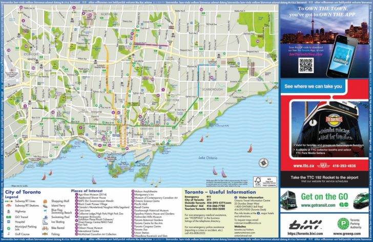 Printable Map Of Toronto