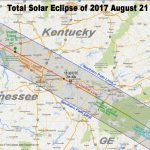 Total Eclipse Of The Sun: August 21, 2017   Printable Eclipse Map