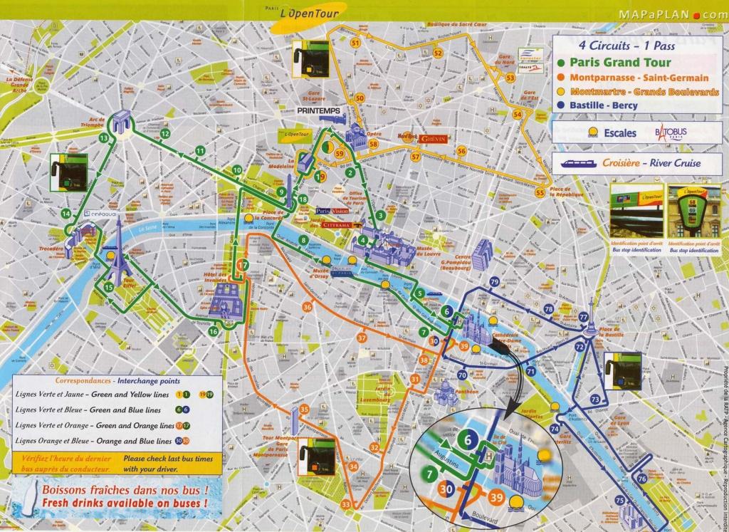 Tourist Attraction Map | Vacations - Paris | Paris Map, Paris - Printable Map Of Paris With Tourist Attractions