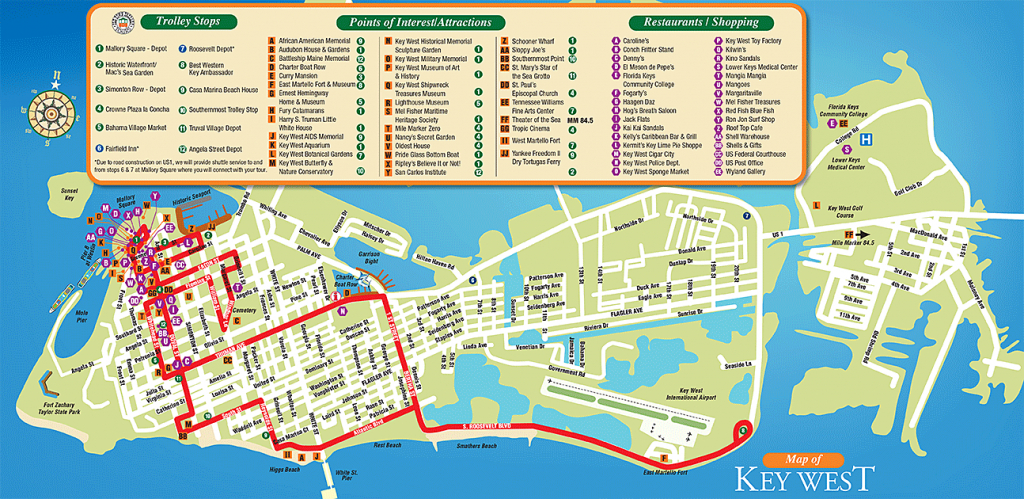 Tourist Attractions In Key West City Florida - Google Search | Kw In - Google Maps Key West Florida