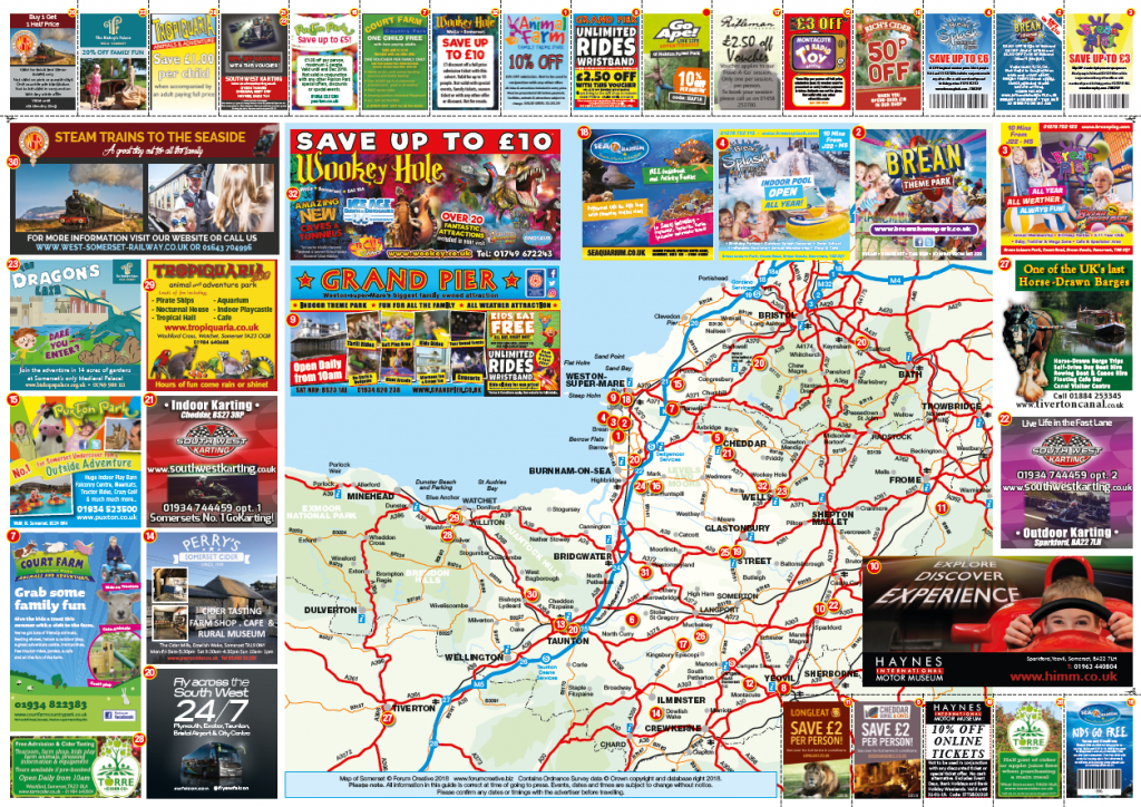 Tourist Map And Publication Advertising Distributed Through Our Network - Blackpool Tourist Map Printable