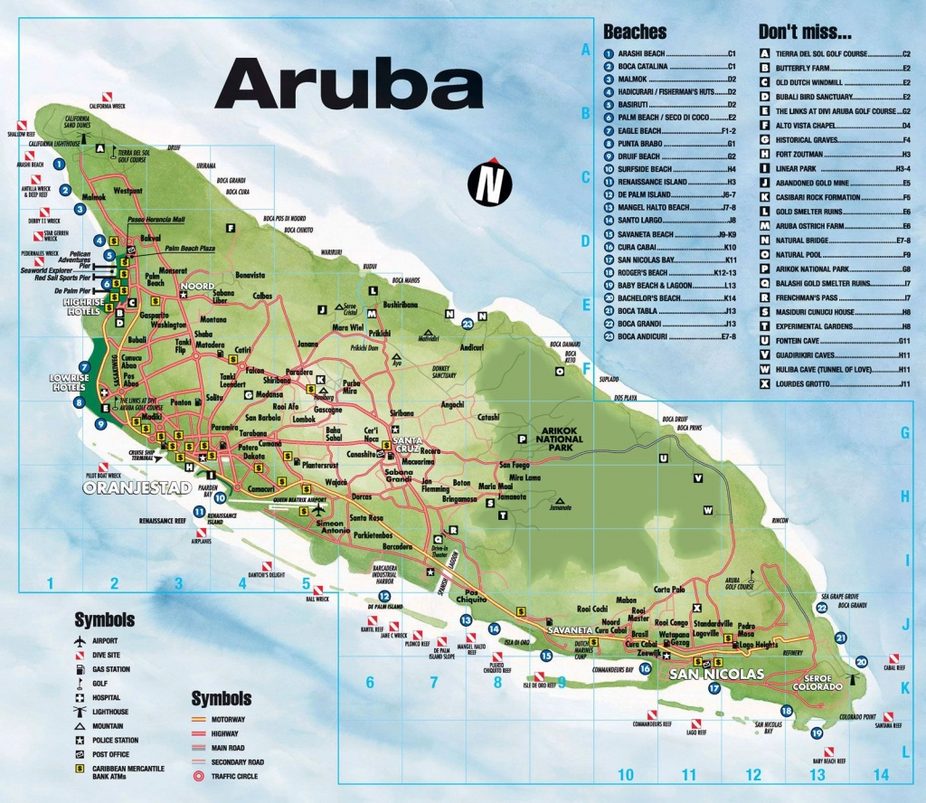 Tourist Map Of Aruba. Aruba Tourist Map. | Travel In 2019 | Aruba - Printable Map Of Aruba